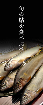 旬の鮎を食べ比べ