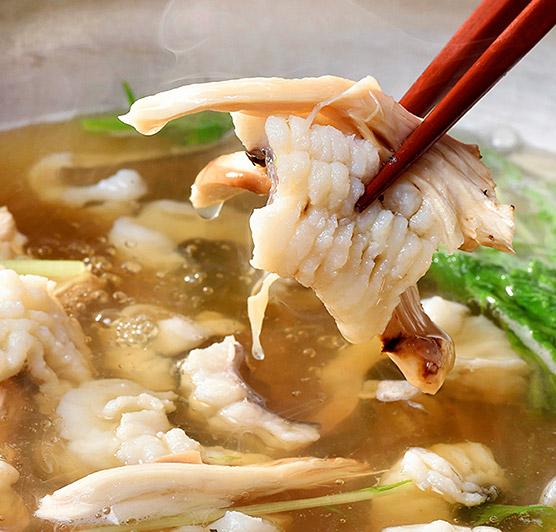 松茸料理レシピ「鱧と国産松茸のしゃぶしゃぶ」