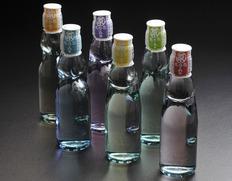 【天然色素・天然香料使用】 ガラス瓶入り 虹色ラムネ  200ml 24本(6色×各4本)