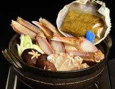 11月到着 『〆までうまい松葉ガニ夫婦鍋セット』2人前(松葉ガニ特大1200g級1杯・せこ蟹2杯)特製スープ付 ※冷凍