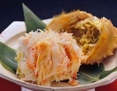 お箸ですぐに食べられる甲羅盛りの蟹!多種ご用意、お歳暮にも一押し!