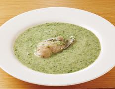 宮城 唐桑の畠山さんの牡蠣を使用! 極上のかきと日本ほうれん草のチャウダー(一人前 180g) ※冷凍