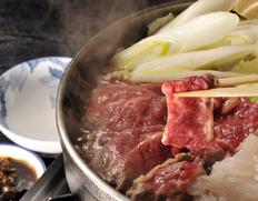 【青森 尾形精肉店特製】味噌仕立て桜鍋セット<特上>馬肉・野菜・鍋用せんべい付(3〜4人前) ※冷蔵