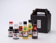 【ご贈答用】味付けポン酢醤油「月想ひ」と本橙百果汁酢「恋雫」ほか5種類6本セット(各150ml)