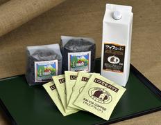 SALVIA COFFEE お試しセット(ボトルアイスコーヒー1000ml、いつでもカフェ5P、サルビアブレンド200g、深煎り200g)