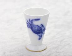 大倉陶園作 干支の酒杯「申」 食文化 萩原章史プロデュース