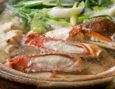 12月到着 『〆までうまい松葉ガニ夫婦鍋セット』4人前(松葉ガニ超特大1200級2杯・せこ蟹4杯)特製スープ付 ※冷凍