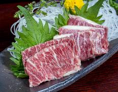 【熊本県肥育馬肉】『特上霜降り馬刺し』 約200g ※冷凍