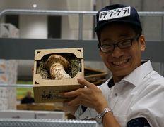 準備中 【豊洲初セリ!】特大『国産マツタケ』松茸 中開き 1本 約400g 長野県産 ※冷蔵
