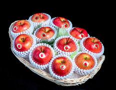 「こみつの香り(りんごのフルーツバスケット)」 青森県石川地区産  約2kg(10〜12玉)