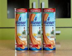 【ドイツ製 ハライコ・ソーセージ】ウィンナーヴェルシェン300g(75g×4本)×3缶入り ※常温