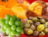 【第二弾】『秋のフルーツ福袋4種』(シャインマスカット、おけさ柿、安納紅芋、有機むき甘栗)合計約4kgの商品画像