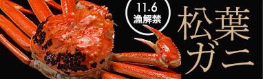 11/6解禁「松葉ガニ・せこ蟹」